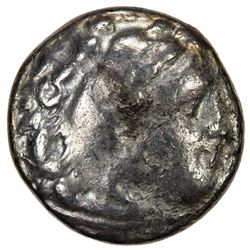 MACEDONIAN KINGDOM: Alexander III, the Great, 336-323 BC, AR drachm, Kolophon mint, 319-310 BC. F-VF