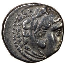 MACEDONIAN KINGDOM: Alexander III, the Great, 336-323 BC, AR drachm (4.03g), Lampaskos mint, 310-301