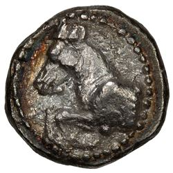 MARONEIA (THRACE): Anonymous, ca. 495-450 BC, AR diobol (1.59g), horse prancing left, VF-EF