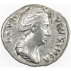 ROMAN EMPIRE: Faustina Senior, wife of Antoninus Pius, 138-141 AD, AR denarius (3.43g), CONSECRATIO,