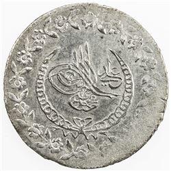 TURKEY: Mahmud II, 1808-1839, AR kurush, AH1223 year 24. BU