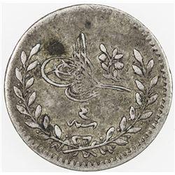 TURKEY: Abdul Hamid II, 1876-1909, AR 20 para, AH1293 year 4. VF
