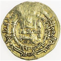GHAZNAVID: Mahmud, 999-1030, AV dinar (3.88g), Herat, AH407, A-1607, 10% flat strike, VF