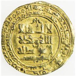 GHAZNAVID: Mas'ud I, 1030-1041, AV dinar (2.93g), Ghazna, AH423. F-VF