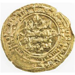 GREAT SELJUQ: Tughril Beg, 1038-1063, AV dinar (3.54g), Nishapur, AH449. EF