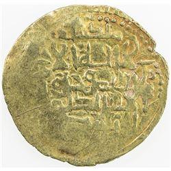SELJUQ OF WESTERN IRAN: Da'ud, 1131-1132, AV dinar (3.60g), NM, ND. VF