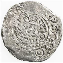 SHAHS OF BADAKHSHAN: Sultan Yahya, 1321, AR dirham (2.44g), Badakhshan, AH690. VF-EF