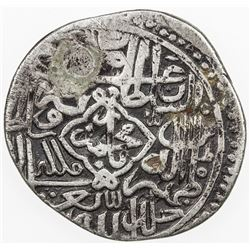 TIMURID: Zahir al-Din Babur, 1497-1498/1st reign, AR tanka (4.79g) (Badakhshan), DM. VF