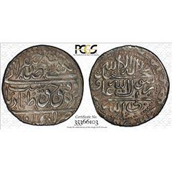 SAFAVID: Tahmasp II, 1722-1732, AR abbasi, Lahijan, AH1158. PCGS AU50