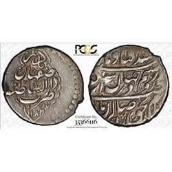 ZAND: Karim Khan, 1753-1779, AR 2 abbasi, Isfahan, AH1182. PCGS AU50