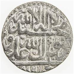 ZAND: Karim Khan, 1753-1779, AR abbasi (4.55g), Shiraz, AH1166. EF