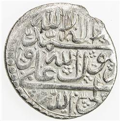 ZAND: Karim Khan, 1753-1779, AR abbasi, Shiraz, AH(116)6. VF-EF