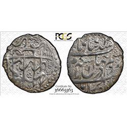 ZAND: Karim Khan, 1753-1779, AR abbasi, Shiraz, AH117x. PCGS AU58