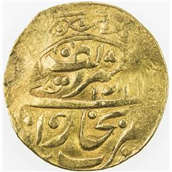 MANGHIT OF BUKHARA: 'Abd al-Ahad, 1886-1910, AV tilla (4.23g), Bukhara-yi sharif, AH1319//AH1319. VF
