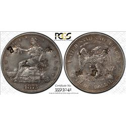 CHINESE CHOPMARKED: UNITED STATES: AR trade dollar (27.22g), 1875-S