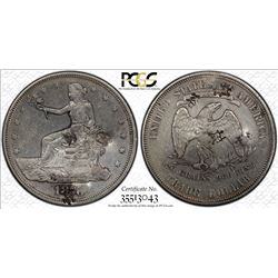 CHINESE CHOPMARKED: UNITED STATES: AR trade dollar, 1876-S