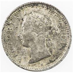 CHINA: HONG KONG: Victoria, 1841-1901, AR 5 cents, 1900-H. AU