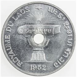 LAOS: Sisavang Vong, 1904-1959, AL 50 cents, 1952. BU