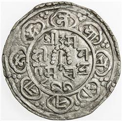 NEPAL: KATHMANDU: Jyoti Prakash Malla, 1746-1750+, AR mohar (5.41g), NS866. VF