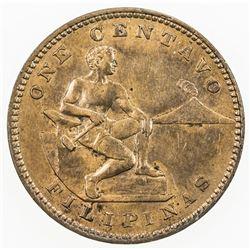 PHILIPPINES: AE centavo, 1903. UNC