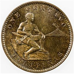 PHILIPPINES: AE centavo, 1904. UNC