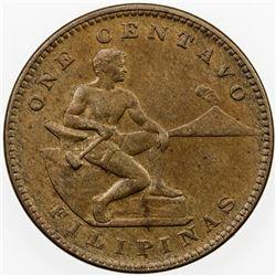 PHILIPPINES: AE centavo, 1910-S. AU