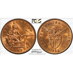 PHILIPPINES: AE centavo, 1936-M. PCGS MS65