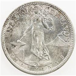PHILIPPINES: AR 50 centavos, 1921. UNC