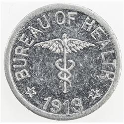 PHILIPPINES: CULION ISLAND: 1/2 centavo, 1913. UNC