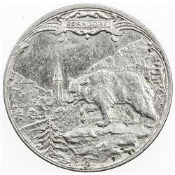 AUSTRIA: 1 krone token (6.74g), ND (ca. 1920?), Berndorfer Metallwaren Fabrik, EF