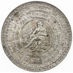 AUSTRIA: AR medal (19.84g), 1933, calendar medal, EF-AU