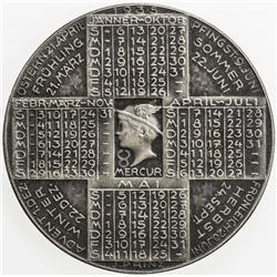 AUSTRIA: AR medal (20.24g), 1935, calendar medal, EF