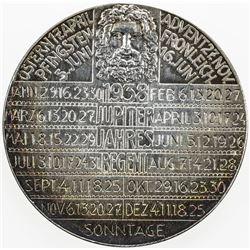 AUSTRIA: AR medal (25.85g), 1938, calendar medal, UNC