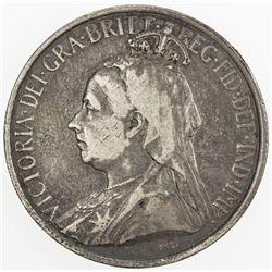 CYPRUS: Victoria, 1837-1901, AR 18 piastres, 1901, KM-7, Fine.