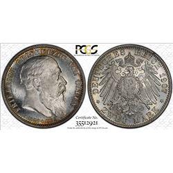 BADEN: Friedrich I, 1852-1907, AR 2 mark, 1907. PCGS MS65