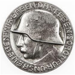 BADEN: medal (23.46g), 1917, helmeted German soldier, AU