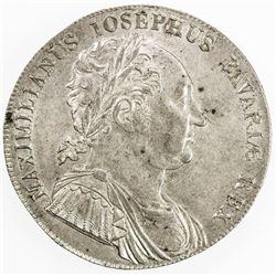 BAVARIA: Maximilian I Josef, 1806-1825, AR thaler, 1818. AU