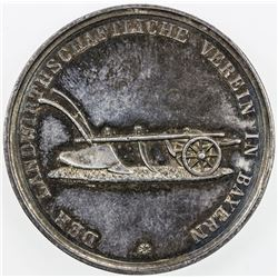 BAVARIA: AR medal (17.28g), ND (ca. 1880). EF