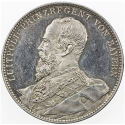 BAVARIA: Luitpold, as Prince Regent, 1886-1912, AR medal (19.67g), 1901. AU