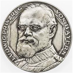 BAVARIA: Ludwig III, as Prince Regent, 1912-1913, AR medal (17.89g), 1912. AU