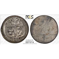 HALL IN SWABIA: Imperial City, AR pfennig, 1754. PCGS MS64