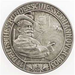 HANOVER: AR medal (24.6g), 1903, 14th German Shooting Festival at Hannover, AU