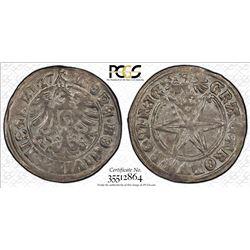 ISNY: Imperial City, AR batzen, 1527. PCGS MS62