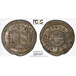 NUREMBERG: Imperial City, AR kreuzer, 1678. PCGS MS65