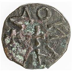 ENGLAND (MEDIEVAL): NORTHUMBRIA: Eanred, ca. 810-830, AE styca (1.11g), ND. VF