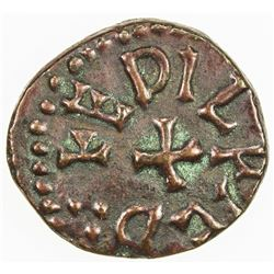 ENGLAND (MEDIEVAL): NORTHUMBRIA: Aethelred II, 841-844, AE styca (1.10g), ND. VF