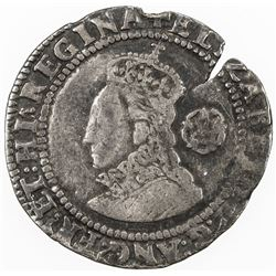 ENGLAND: Elizabeth I, 1558-1603, AR sixpence (2.88g), 1578. F-VF