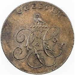 GREAT BRITAIN: AE halfpenny token (10.10g), ND [ca. 1795]. AU