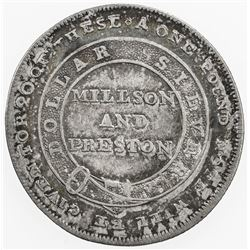 GREAT BRITAIN: AR shilling token (3.84g), 1812, Lincoln, Lincolnshire, Fine