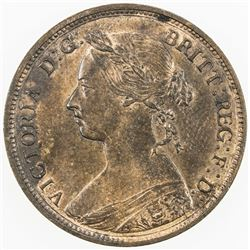 GREAT BRITAIN: Victoria, 1837-1901, AE halfpenny, 1882-H. UNC